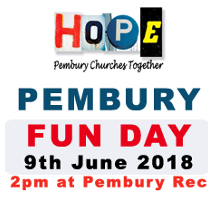 poster HOPE churches together fun day 2018