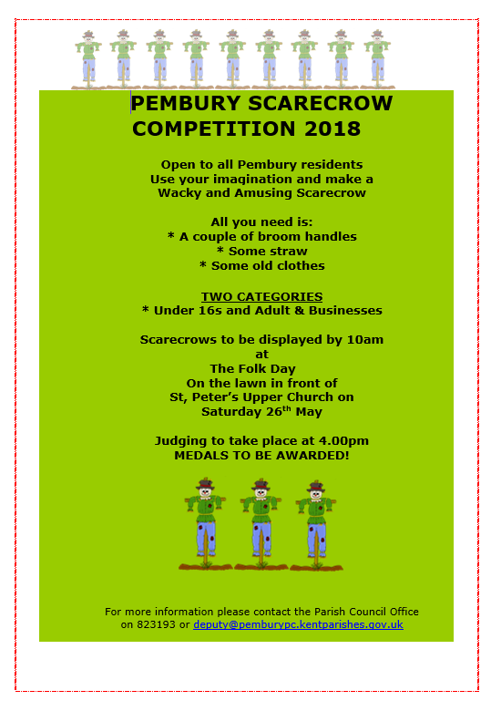 scarecrow competition poster