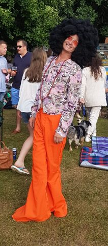 Cllr Patrick Gillan MC in fancy dress for picnic on the green 2017