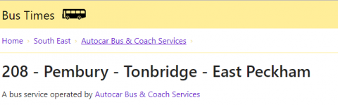 Buses, Pembury Parish Council