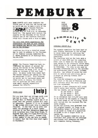Archived Newsletters, Pembury Parish Council