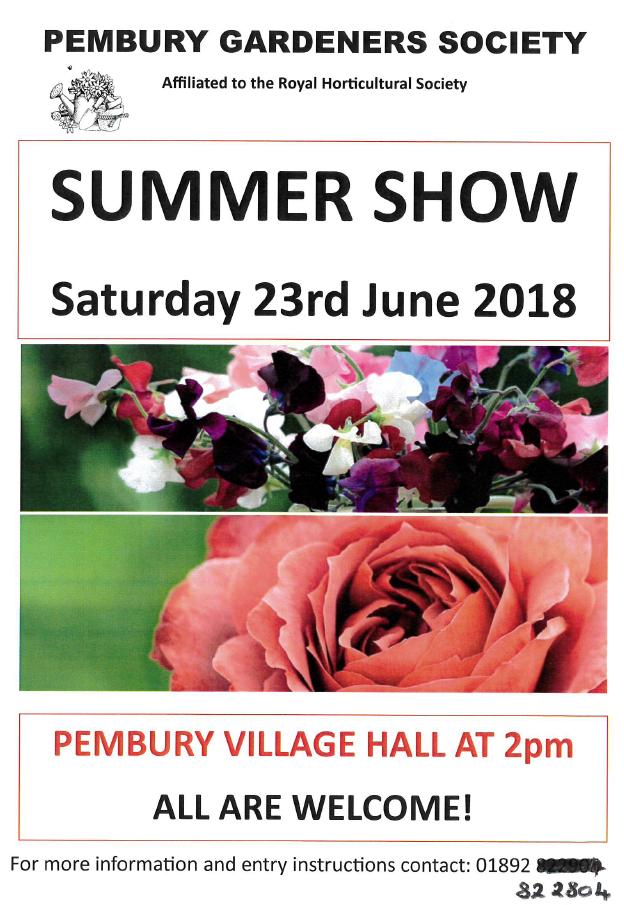 Pembury gardeners society poster