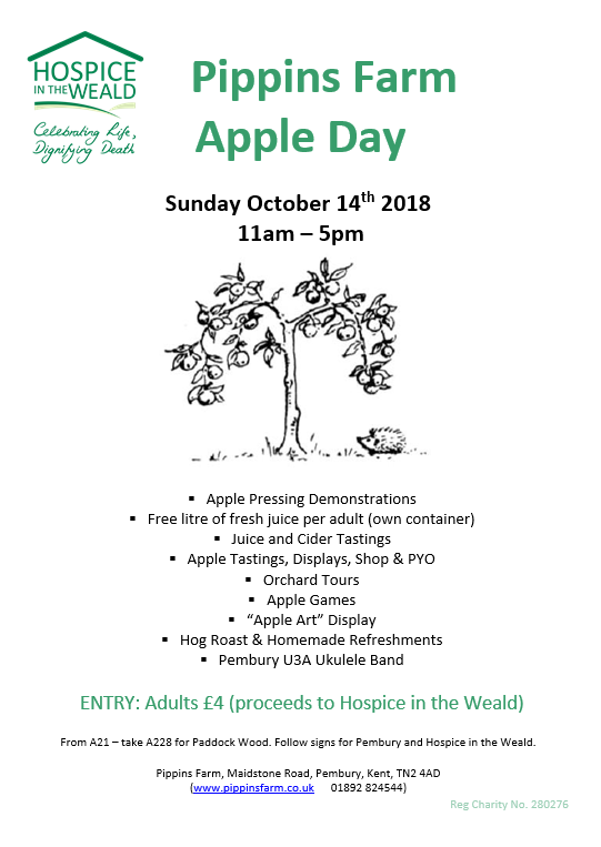 poster Pippins Farm apple day 2018