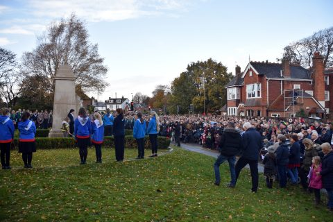 Attendees at Remembrance Day 2019