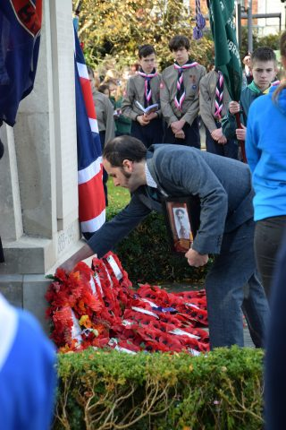 Wreath laying Remembrance Day 2019