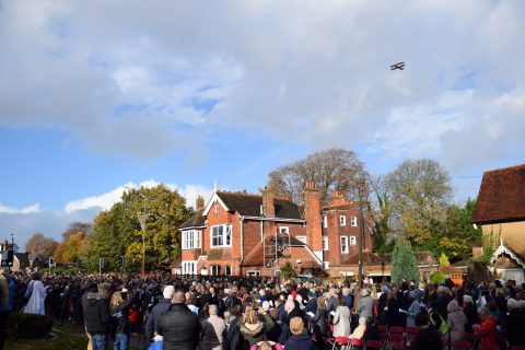 airplane fly past Rememrnace day 2019