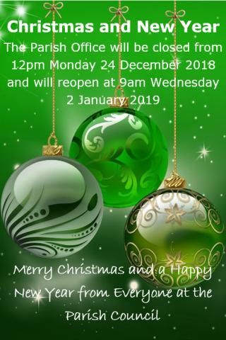 Parish Office Christmas and New Year Closures, Pembury Parish Council