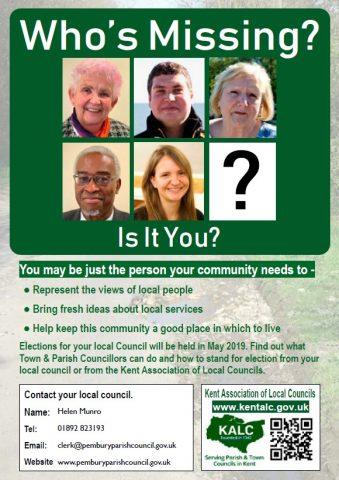 Parish Council Elections 2 May 2019, Pembury Parish Council