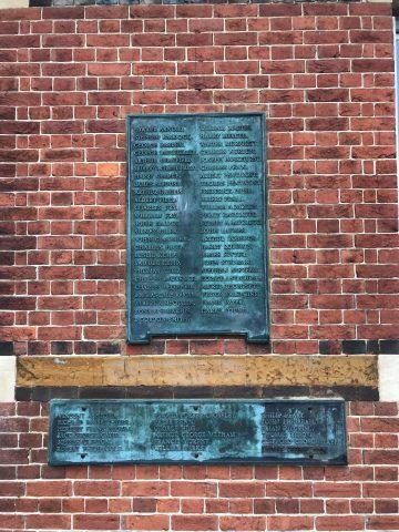 Old War Memorial Plaques presented to Pembury Primary School, Pembury Parish Council
