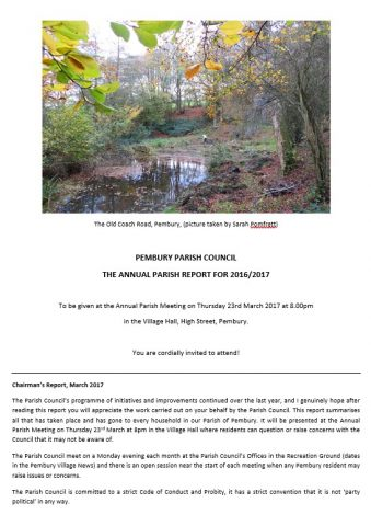Annual Reports, Pembury Parish Council