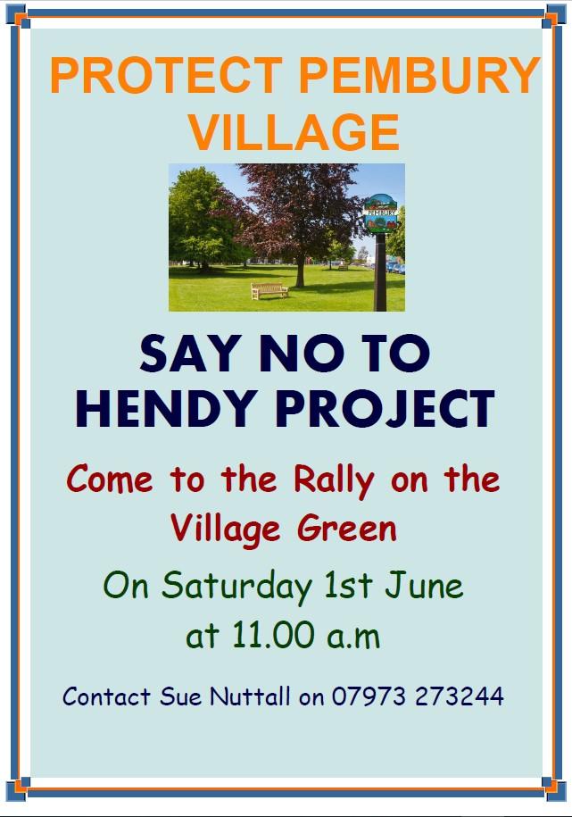 Hendy rally poster