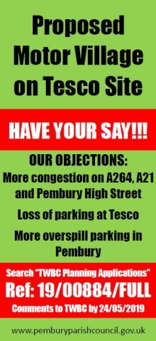 Proposed Hendy Motor Village – on Tesco site, Pembury Road, Pembury Parish Council