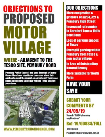 Planning Application – Hendy Motor Village, Pembury Parish Council