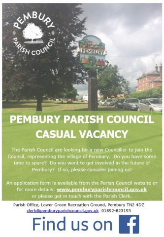 Poster advertising a Parish Councillor Vacancy