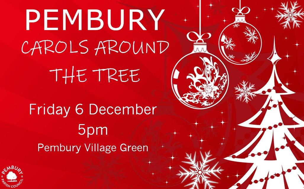 Carols around the tree poster