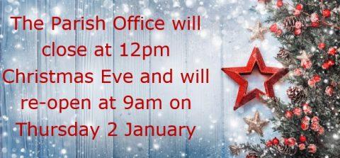 Christmas Office Closures, Pembury Parish Council