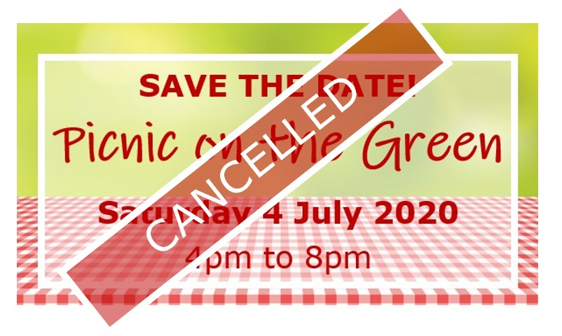 Picnic on the Green cancelled poster