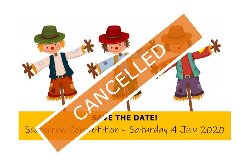 Scarecrow competition cancelled poster