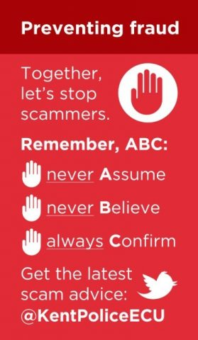 How to stop scammers poster