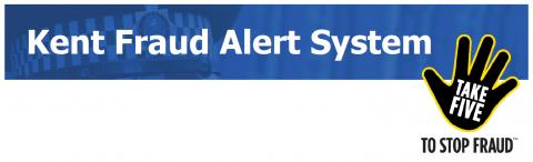 Kent police fraud alert logo