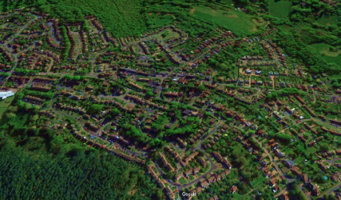 Generic photo pf houses from the air