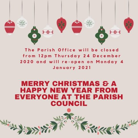 Festive opening hours poster