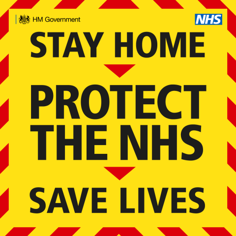 Stay home protect the nhs poster